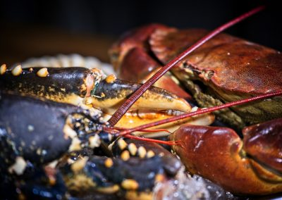 Locally sourced shellfish